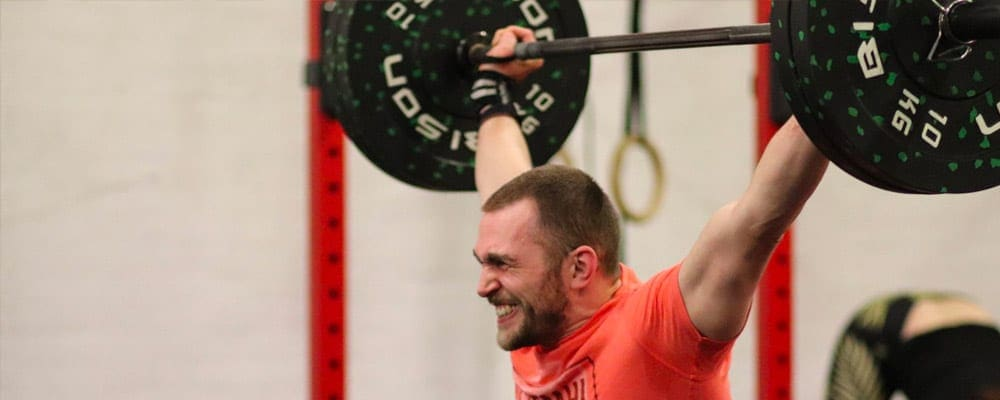 Andy Herbert performing a Snatch