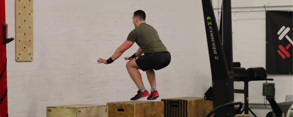 Joel Allard doing box jumps
