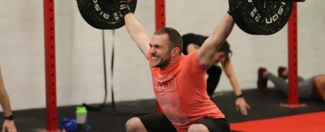 Andy Herbet from GAIN Fitness Norwich performing a snatch