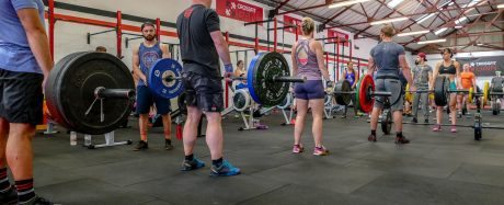 Deadlifts in a CrossFit Competition