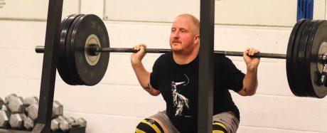 Ian Muldy doing a Back Squat